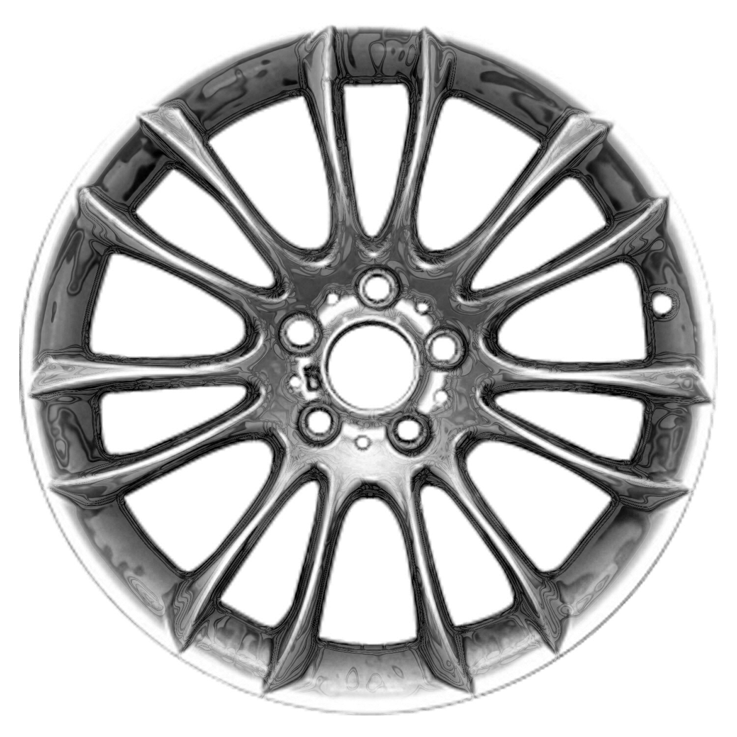 Compatible Reconditioned Front 19 X 8 5 7 V Spokes Chrome Aluminium