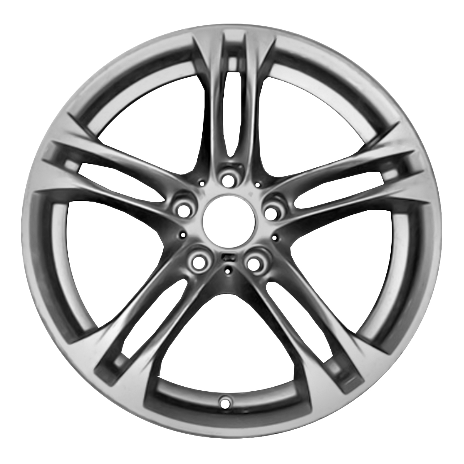 Compatible Reconditioned Front 18 X 8 5 Double Spokes Bright