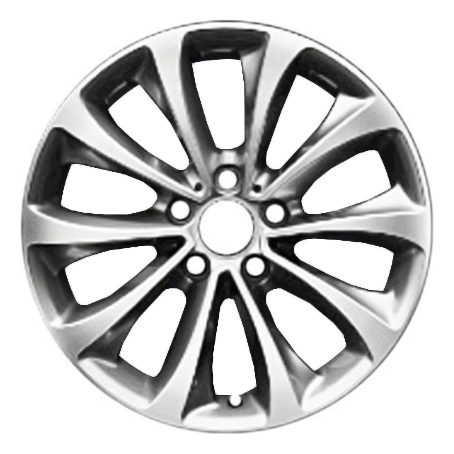 Compatible Reconditioned 18 X 8 10 Spokes Bright Aluminium Alloy